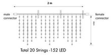 Peak-Light1|-200x80cm-|-WW-LED-|-black-wire-startset