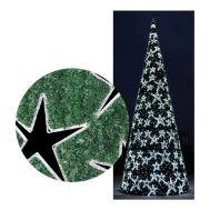 LED-Star-Cone-Tree-|-200x78-|-Green-Carpet-|-50-LED